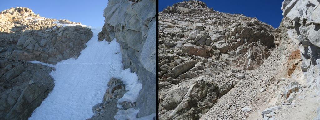 Najviša točka PCT-a - Forester pass (4009m). Proklizavanja niz padinu u ovom slučaju može za rezlutati imati smrtne posljedice za hikera.