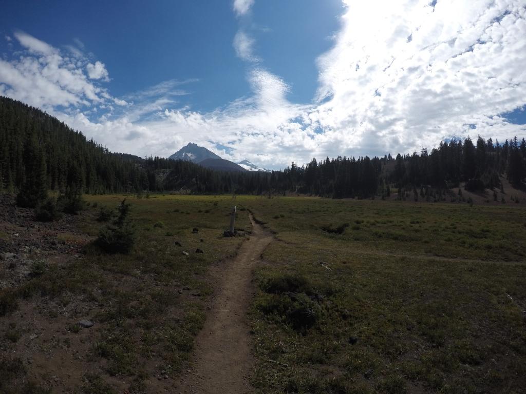 Mini ravnice s trailom po sredini, omeđen šumama, a u daljini planine....na ovakve prizore nikada nisam ostajao ravnodušan. Srećom, bilo ih je mnogo :)