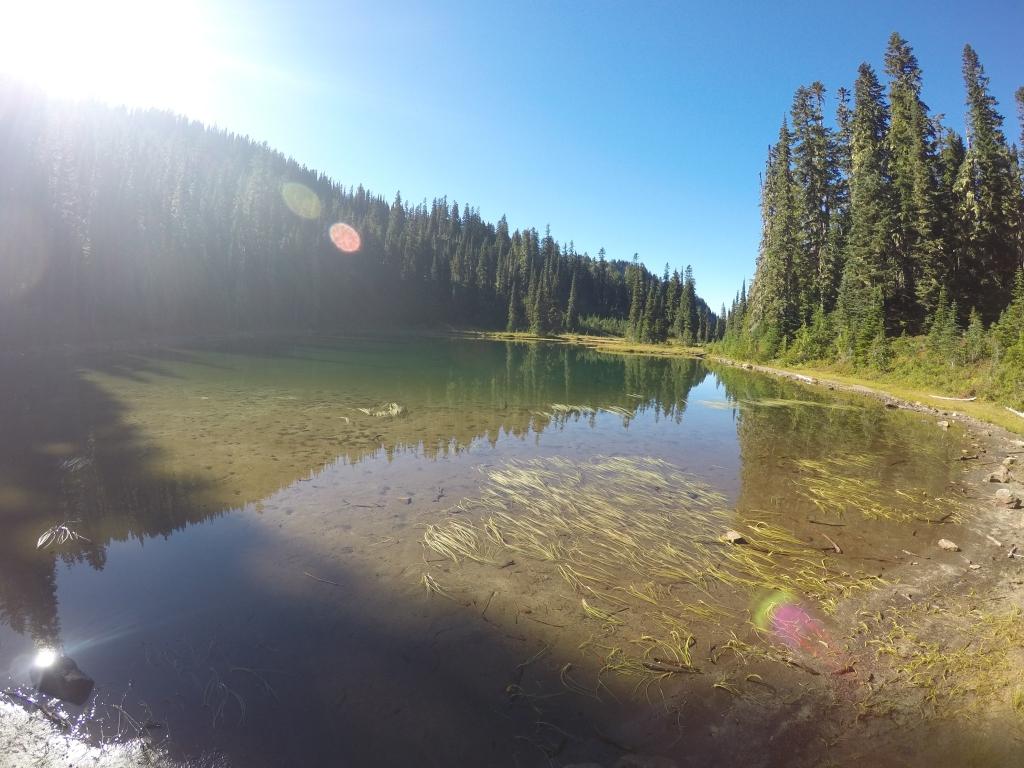 Jezero gdje smo Dangerous Dave i ja doručkovali.