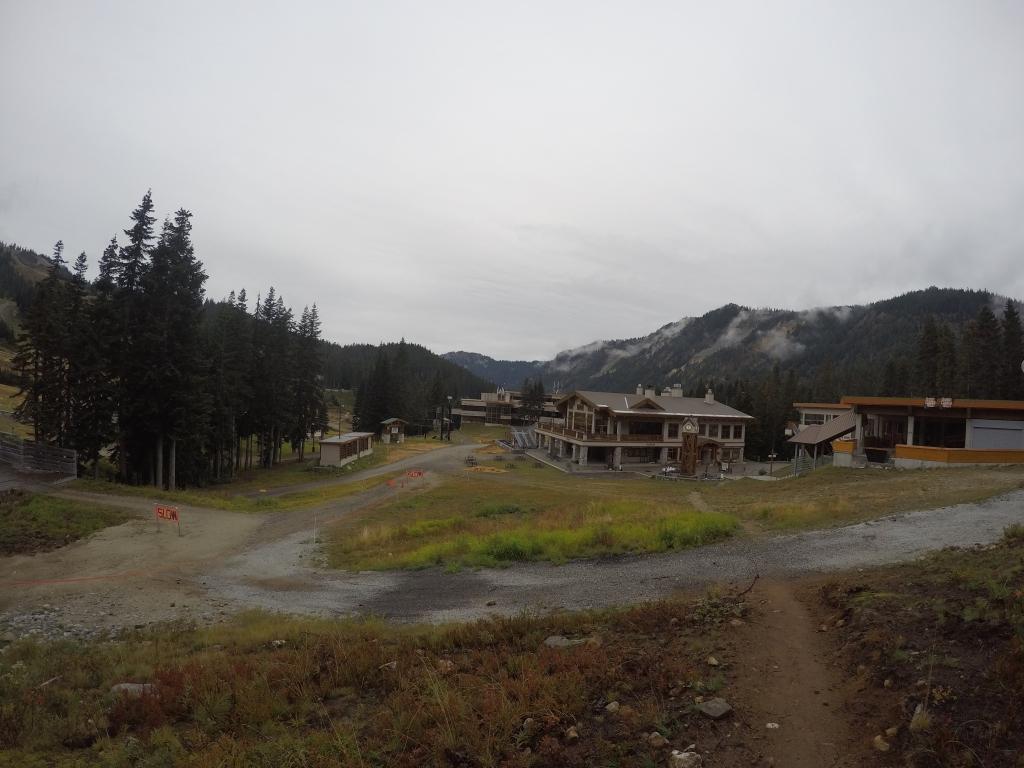 Stevens Pass ski resort i bijedno jutro.