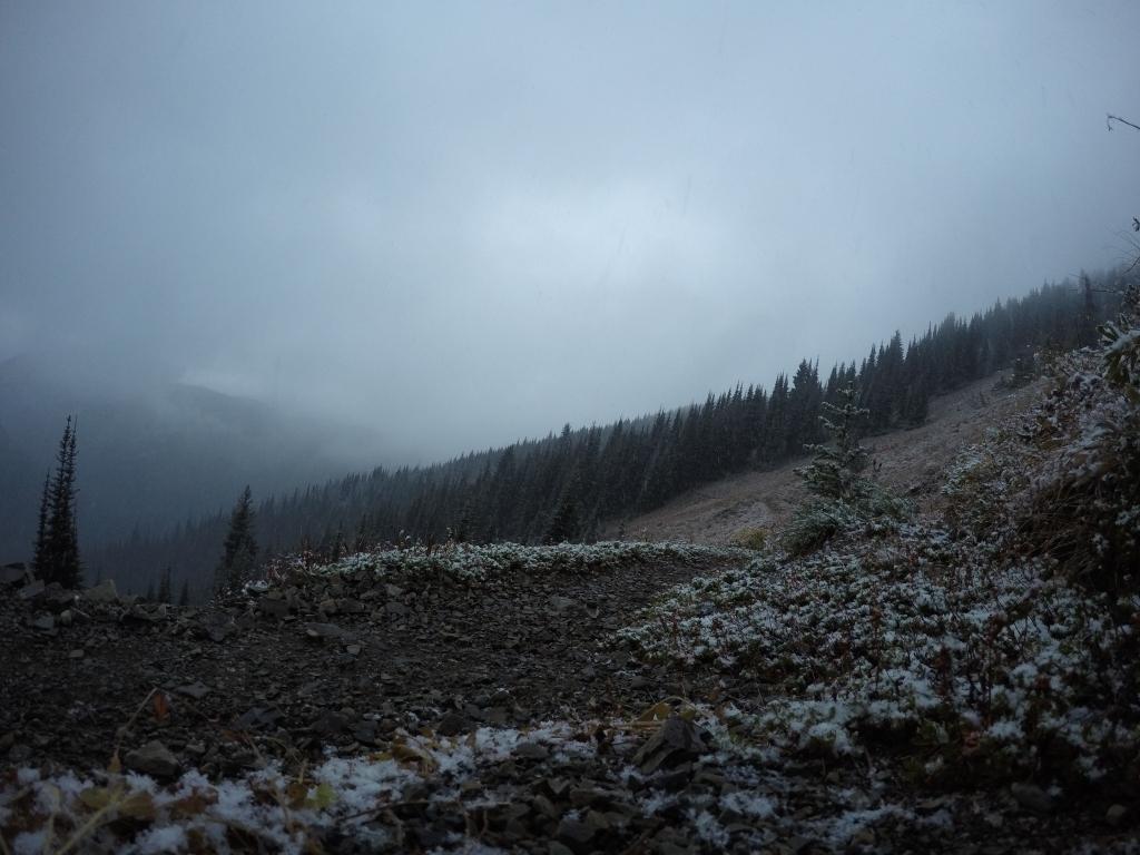 Snijeg se pomalo počeo primati.