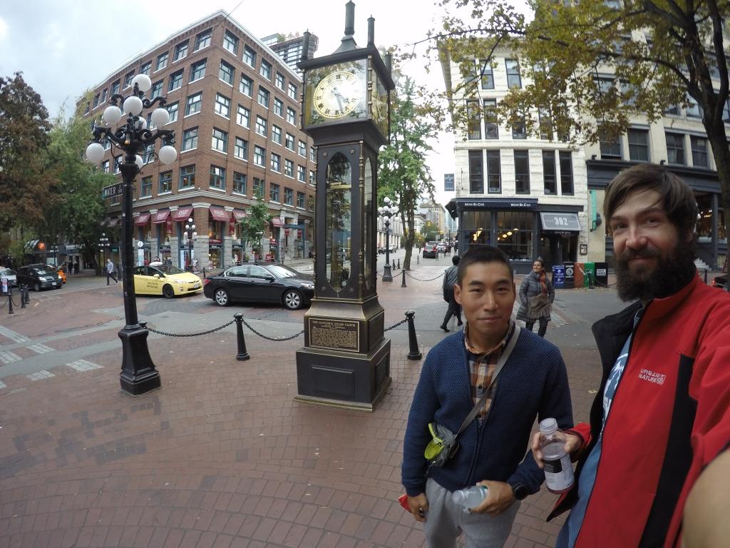 Stari dio Vancouvera gdje se nalazi sat na parni pogon, turistička atrakcija.